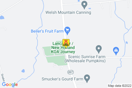 Lancaster / New Holland KOA Map