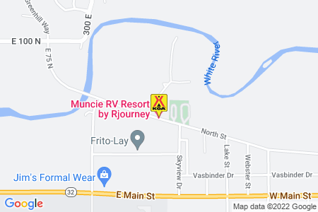 Anderson / Muncie KOA Holiday Map