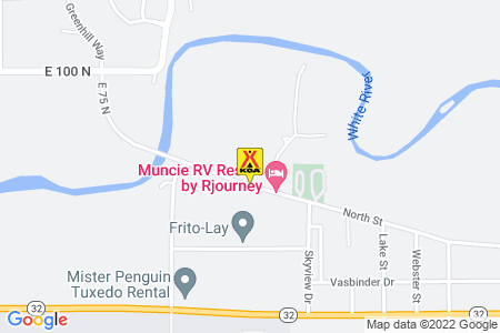 Anderson / Muncie KOA Map