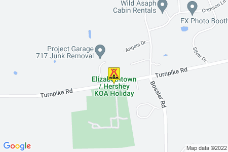 Elizabethtown / Hershey KOA Holiday Map