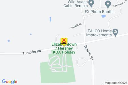 Elizabethtown / Hershey KOA Map