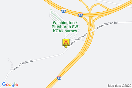 Washington / Pittsburgh SW KOA Map