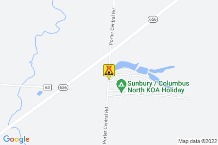 Sunbury / Columbus North KOA Holiday Map