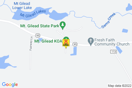 Mt. Gilead / Mid-Ohio KOA Map
