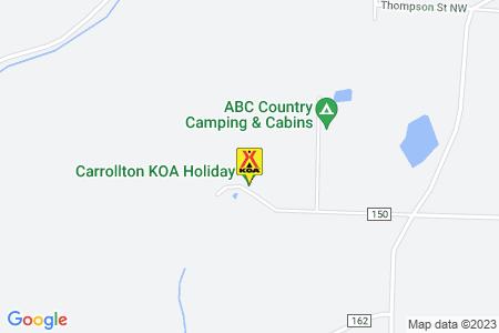 Carrollton KOA Map