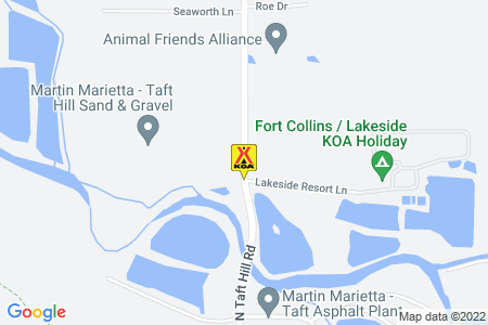 Fort Collins / Lakeside KOA Map