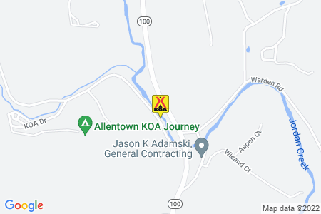 Allentown KOA Map