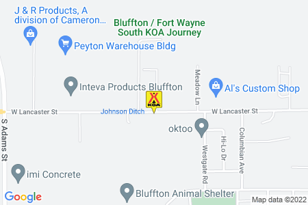 Bluffton / Fort Wayne South KOA Map