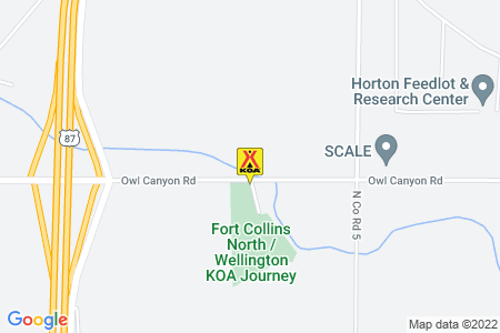 Fort Collins North / Wellington KOA Map