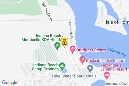 Indiana Beach / Monticello KOA Map