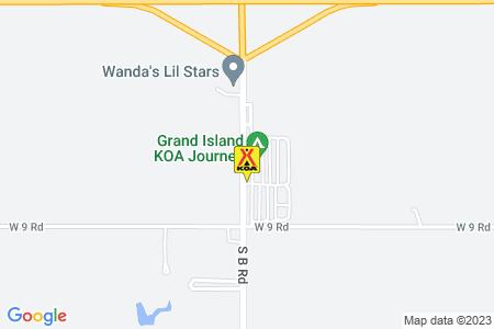 Grand Island KOA Map