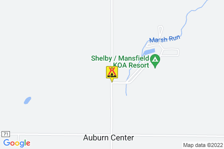 Shelby / Mansfield KOA Map