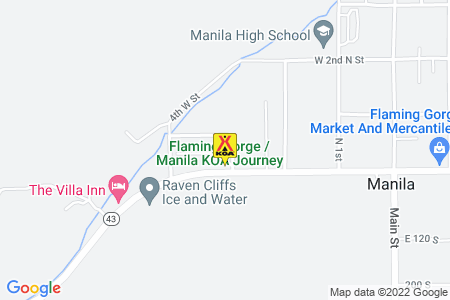 Flaming Gorge / Manila KOA Map