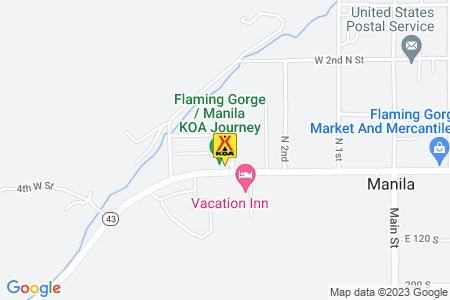 Flaming Gorge / Manila KOA Journey Map