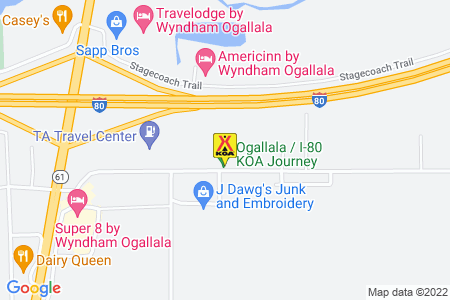 Ogallala KOA Map
