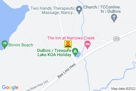 DuBois / Treasure Lake KOA Holiday Map