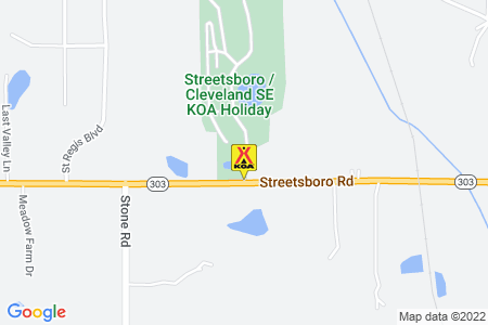 Streetsboro / Cleveland SE KOA Holiday Map