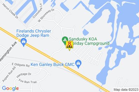 Sandusky / Bayshore KOA Map