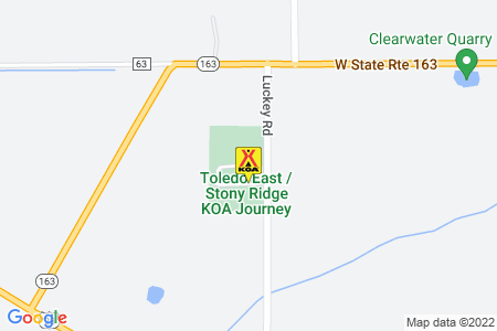 Toledo East / Stony Ridge KOA Map