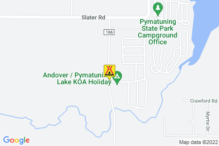 Andover / Pymatuning Lake KOA Map