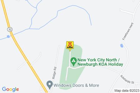 New York City North / Newburgh KOA Map