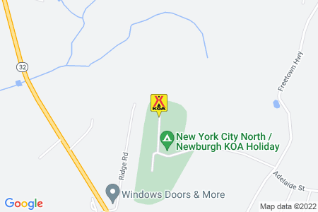 New York City North / Newburgh KOA Map