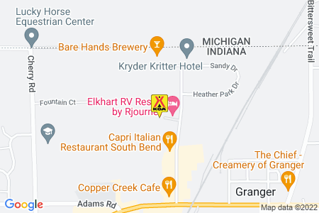 South Bend / Elkhart North KOA Map