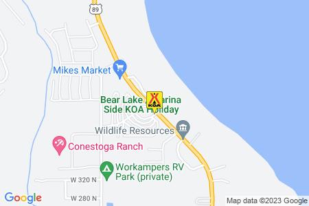 Bear Lake / Marina Side KOA Map