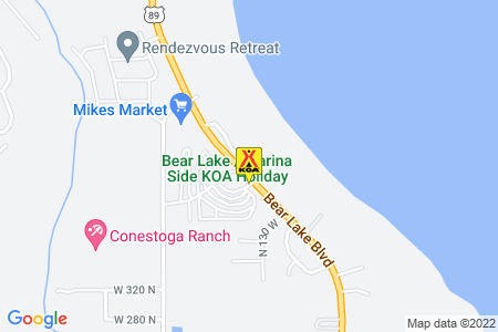 Bear Lake / Marina Side KOA Map