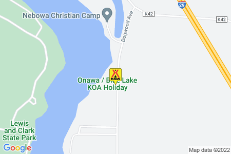 Onawa / Blue Lake KOA Holiday Map
