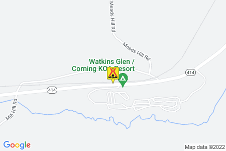 Watkins Glen / Corning KOA Map