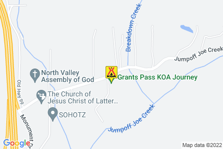 Grants Pass KOA Map