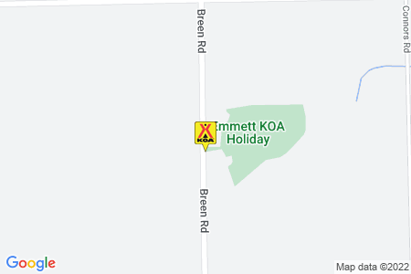 Emmett KOA Map