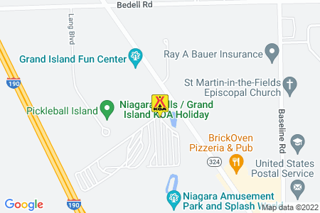 Niagara Falls / Grand Island KOA Map
