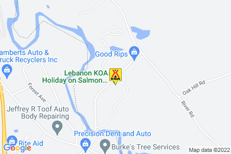 Lebanon KOA on Salmon Falls River Map