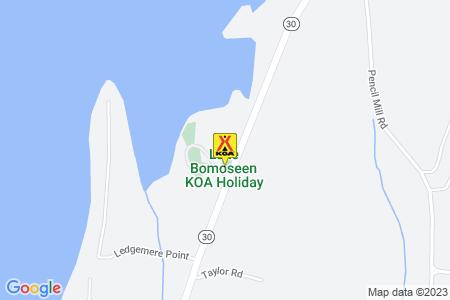 Lake Bomoseen KOA Map