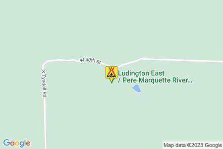Ludington East / Pere Marquette River KOA Holiday Map