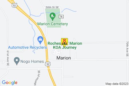 Rochester / Marion KOA Map