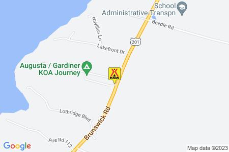 Augusta / Gardiner KOA Map