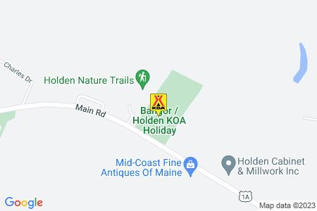 Bangor / Holden KOA Holiday Map
