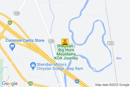 Sheridan / Big Horn Mountains KOA Map