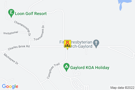 Gaylord KOA Map