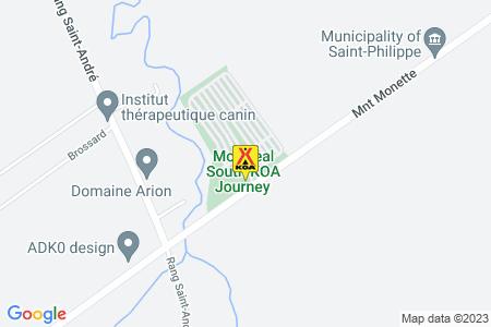 Montreal South KOA Journey Map