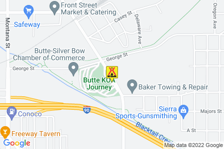 Butte KOA Map