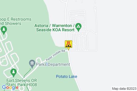 Astoria / Warrenton / Seaside KOA Map