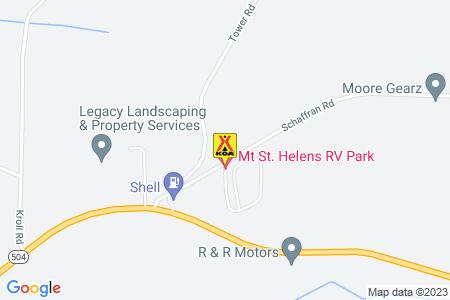 Longview North / Mount St Helens KOA Map