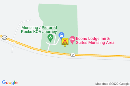 Munising / Pictured Rocks KOA Journey Map