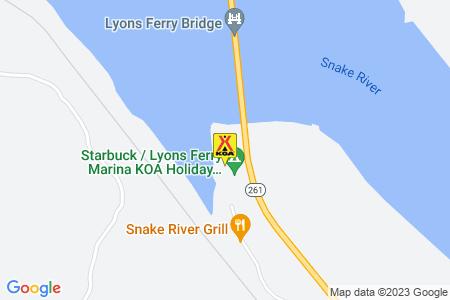 Starbuck / Lyons Ferry Marina KOA Map