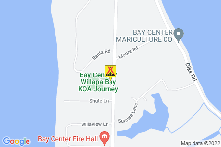 Bay Center / Willapa Bay KOA Map