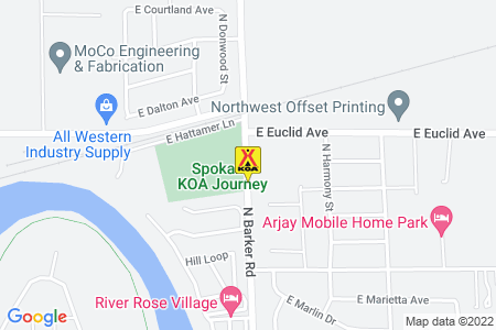Spokane KOA Map